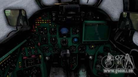 Mi-24V Sri-Lanka Air Force CH621 für GTA San Andreas Rückansicht