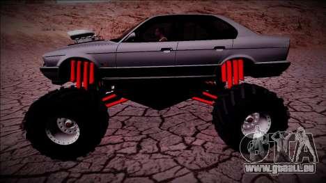 BMW M5 E34 Monster Truck für GTA San Andreas linke Ansicht