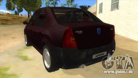 Dacia Logan V2 Final pour GTA San Andreas sur la vue arrière gauche