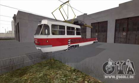 Tatra T3 de service pour GTA San Andreas laissé vue