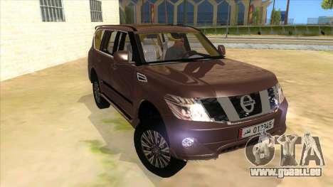 Nissan Patrol 2016 pour GTA San Andreas vue arrière