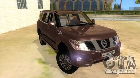 Nissan Patrol 2016 für GTA San Andreas Rückansicht