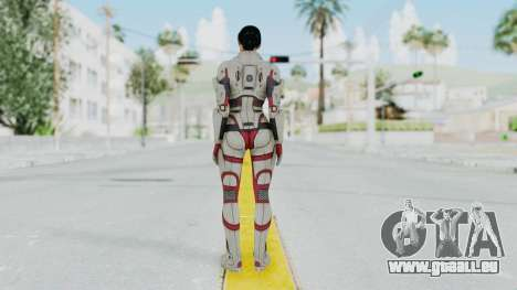 ME 1 Ashley Williams Default White Armor für GTA San Andreas dritten Screenshot