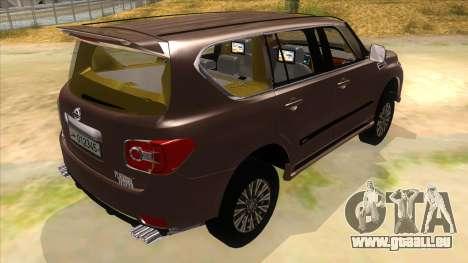 Nissan Patrol 2016 pour GTA San Andreas vue de droite