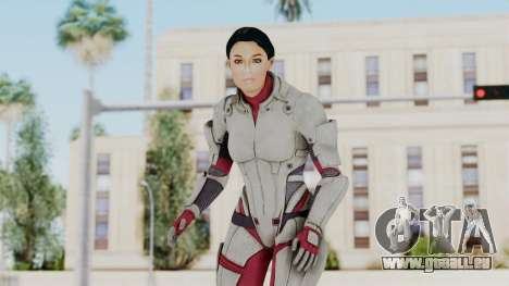 ME 1 Ashley Williams Default White Armor für GTA San Andreas