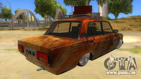 VAZ 2107 Rusty Gringo pour GTA San Andreas vue de droite
