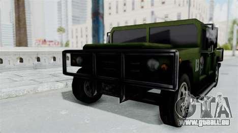 Patriot from Manhunt 2 pour GTA San Andreas sur la vue arrière gauche