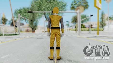 Power Rangers Ninja Storm - Yellow für GTA San Andreas dritten Screenshot