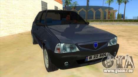 Dacia Solenza V2 für GTA San Andreas Rückansicht