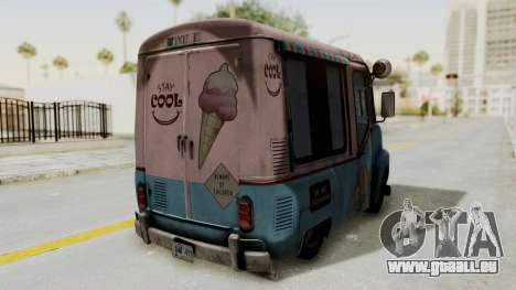 Hitman Absolution - Ice Cream Van für GTA San Andreas Rückansicht