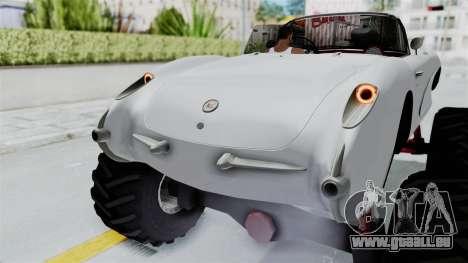 Chevrolet Corvette C1 1962 Monster Truck für GTA San Andreas Unteransicht