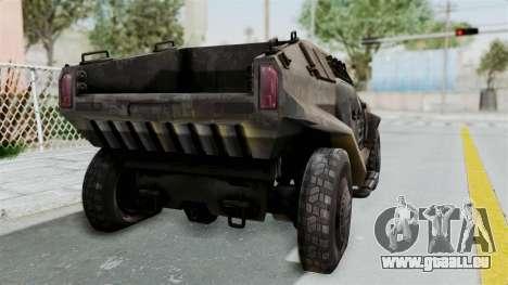 PITBULL from CoD Advanced Warfare pour GTA San Andreas sur la vue arrière gauche