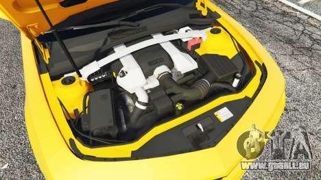 GTA 5 Chevrolet Camaro SS 2014 v1.1 avant droite vue de côté