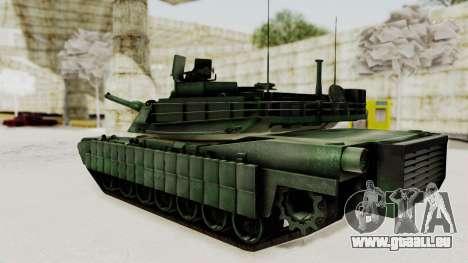 M1A2 Abrams Woodland Croatian für GTA San Andreas linke Ansicht