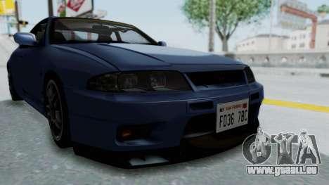 Nissan Skyline R33 GT-R V-Spec 1995 für GTA San Andreas Seitenansicht