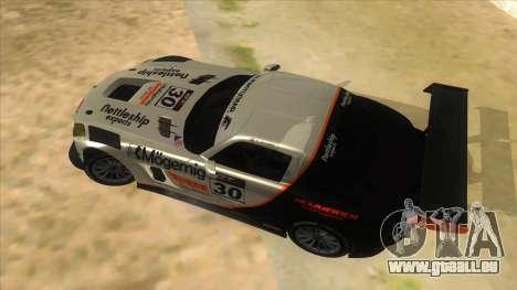 Mercedes Benz SLS AMG GT3 pour GTA San Andreas vue de côté