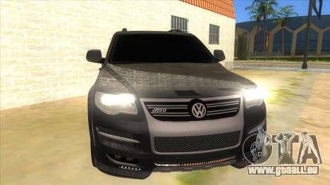 Volkswagen Touareg HQ für GTA San Andreas Rückansicht