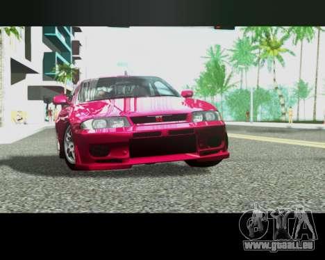 Nissan R33 GT-R Tunable pour GTA San Andreas vue de côté