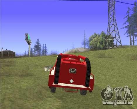 GAZ 63 Feuerwehr für GTA San Andreas Innenansicht