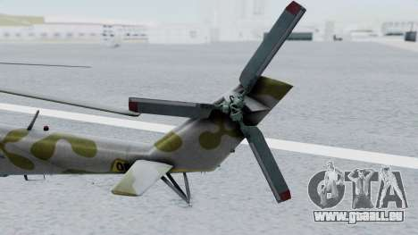 Mi-24V Ukraine Air Force 010 für GTA San Andreas zurück linke Ansicht