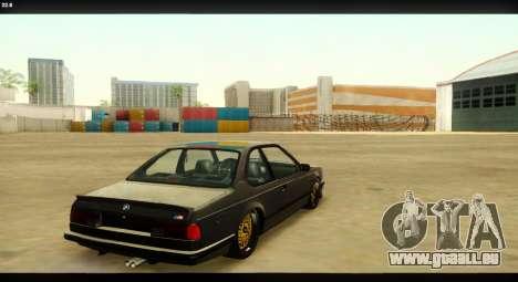 BMW M635 CSi (E24) für GTA San Andreas obere Ansicht