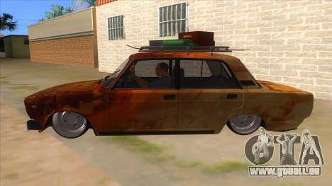 VAZ 2107 Rusty Gringo pour GTA San Andreas laissé vue