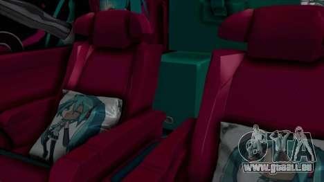 Toyota Vellfire Miku Pocky Exhaust Final Version pour GTA San Andreas vue arrière