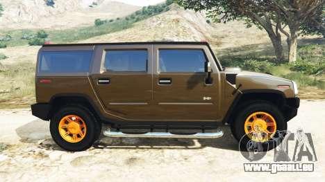 GTA 5 Hummer H2 2005 [getönt] v2.0 linke Seitenansicht