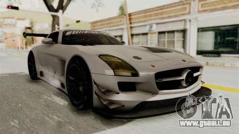 Mercedes-Benz SLS AMG GT3 PJ3 pour GTA San Andreas sur la vue arrière gauche