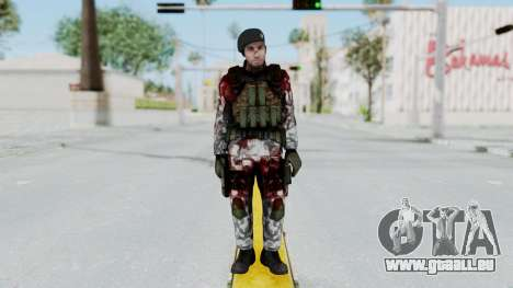 Black Mesa - Wounded HECU Marine Beret für GTA San Andreas zweiten Screenshot