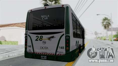 TodoBus Pompeya II Scania K310 Linea 28 Trailer pour GTA San Andreas laissé vue