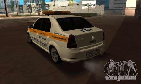 Renault Logan Security Service für GTA San Andreas linke Ansicht