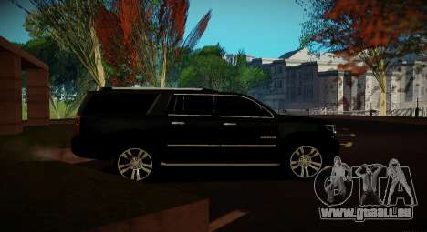 2015 Chevrolet Suburban Staatsanwaltschaft für GTA San Andreas Rückansicht
