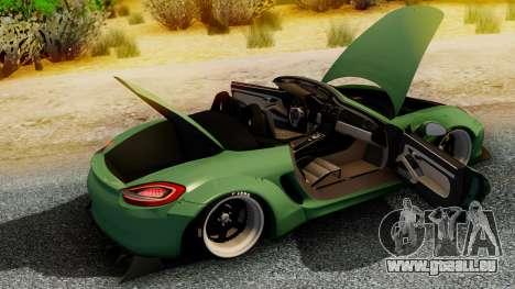 Porsche Boxster GTS LB Work für GTA San Andreas zurück linke Ansicht