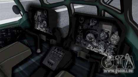 Mi-8 Croatian pour GTA San Andreas sur la vue arrière gauche