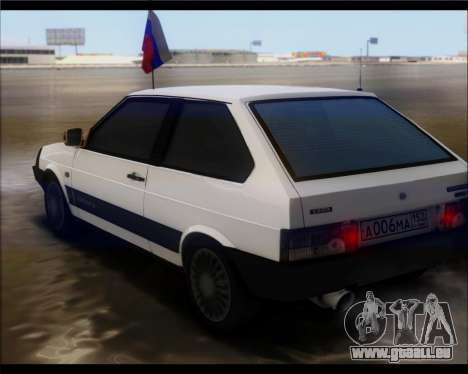 VAZ 2108 Militaires Classiques pour GTA San Andreas laissé vue