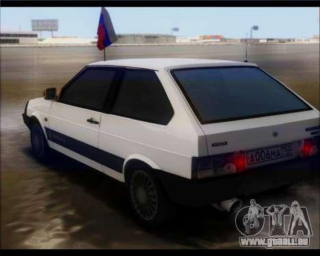 VAZ 2108 Militär-Klassiker für GTA San Andreas linke Ansicht