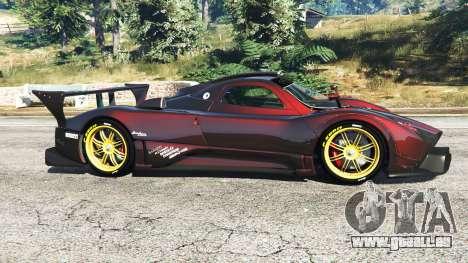 GTA 5 Pagani Zonda R vue latérale gauche