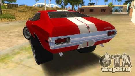 1972 Ford Gran Torino Drag pour GTA San Andreas sur la vue arrière gauche