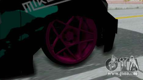 Toyota Vellfire Miku Pocky Exhaust Final Version pour GTA San Andreas sur la vue arrière gauche