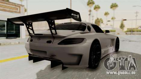 Mercedes-Benz SLS AMG GT3 PJ3 pour GTA San Andreas laissé vue
