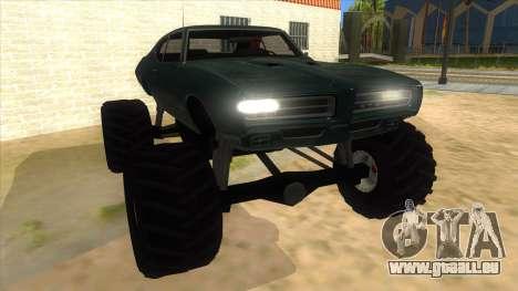 1969 Pontiac GTO Monster Truck für GTA San Andreas Rückansicht