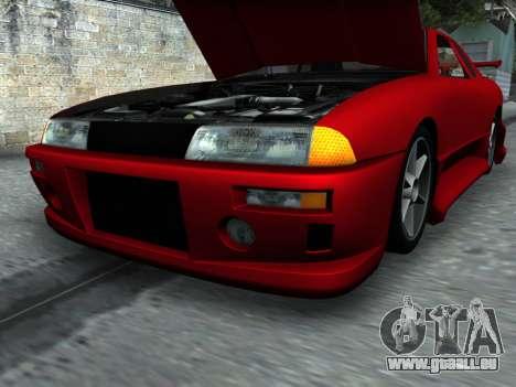 Elegy PFR v1.0 pour GTA San Andreas vue de dessous