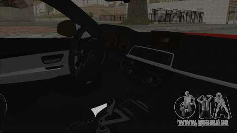 BMW M4 F82 Race Tune für GTA San Andreas rechten Ansicht