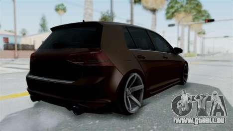 Volkswagen Golf 7 Stance für GTA San Andreas linke Ansicht