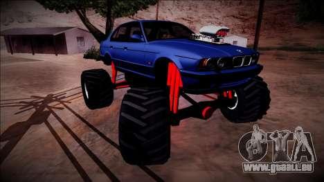 BMW M5 E34 Monster Truck für GTA San Andreas Unteransicht