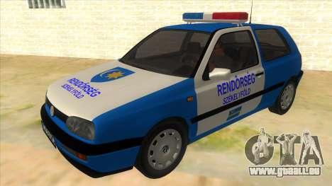Volkswagen Golf 3 Police pour GTA San Andreas