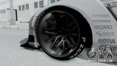 Nissan GT-R R35 2010 Liberty Walk pour GTA San Andreas sur la vue arrière gauche