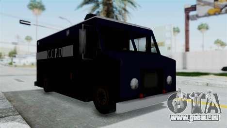 CCPD Boxville from Manhunt pour GTA San Andreas vue de droite