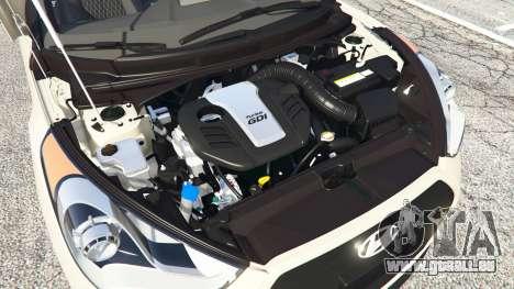 GTA 5 Hyundai Veloster Turbo avant droite vue de côté
